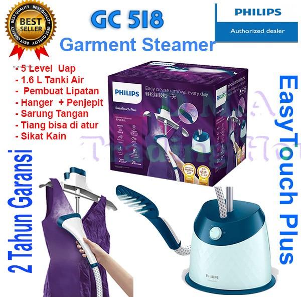 harga Garment steamer philips easytouch plus - model gc 518 Tokopedia.com