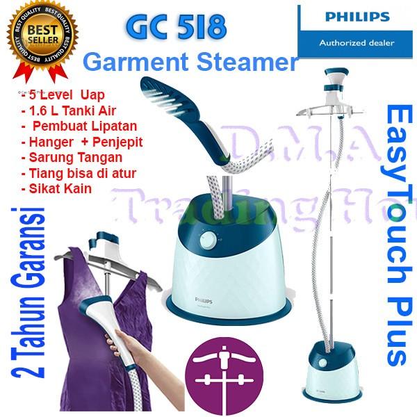 harga Garment steamer philips easytouch plus - type gc 518 Tokopedia.com