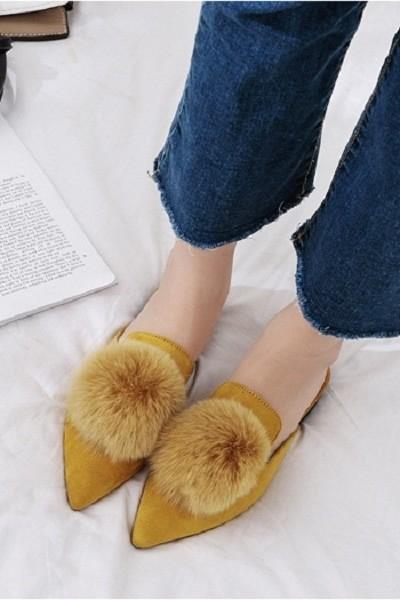 harga Sepatu sandal selop bulu beludru lucu korea import  s306 Tokopedia.com