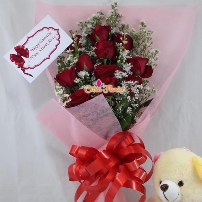 Jual Buket Bunga Tangan Cantik Mawar Segar Pikok Dan Boneka Tedy Mini Kota Surabaya Toko Bunga Citra Florist Tokopedia