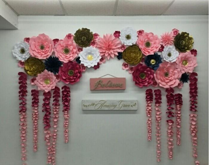 Jual Paket Paper Flower Dekorasi Photo Booth Wedding Giant Paper