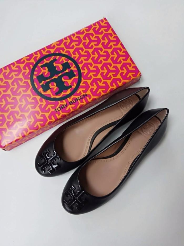 879239b952f Jual sepatu tory burch Lowell 2 Ballet Flat Black shoes - DKI ...