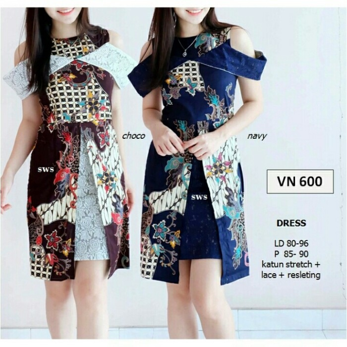 harga Batik brukat vn 600 dress import Tokopedia.com
