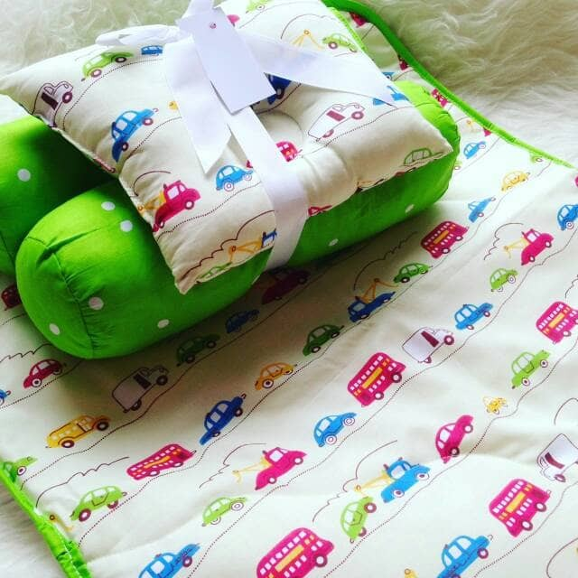 harga Perlak kasur/matras bayi set baby you motif cars parade dot green Tokopedia.com