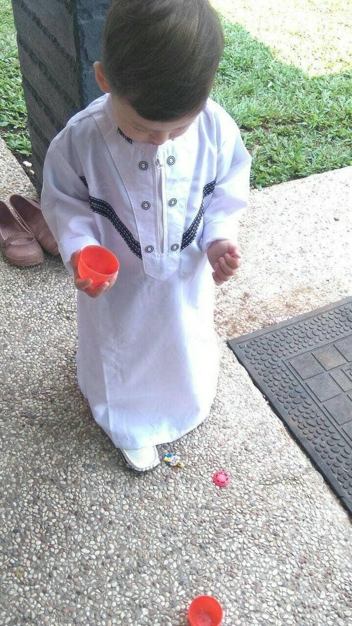 Baju gamis anak laki laki pakaian koko muslim anak cowok putih