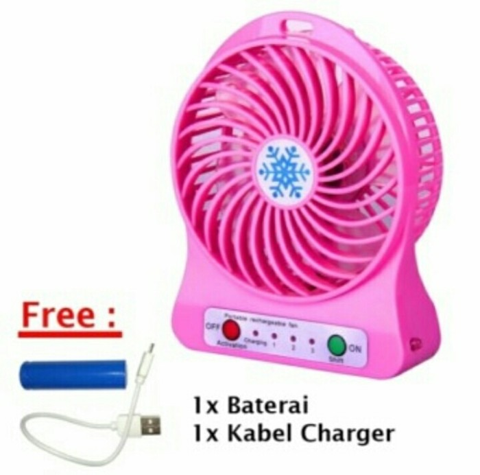 Twelven Kipas Angin Power Bank Portable Mini Fan 3 Speed Kabel Source · Kipas Angin Meja Mini Portable Dengan 3 Speed free Baterai