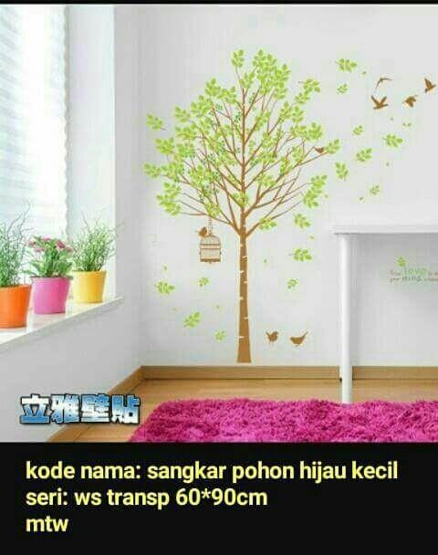 jual wallsticker dinding pohon hijau - kota tangerang selatan