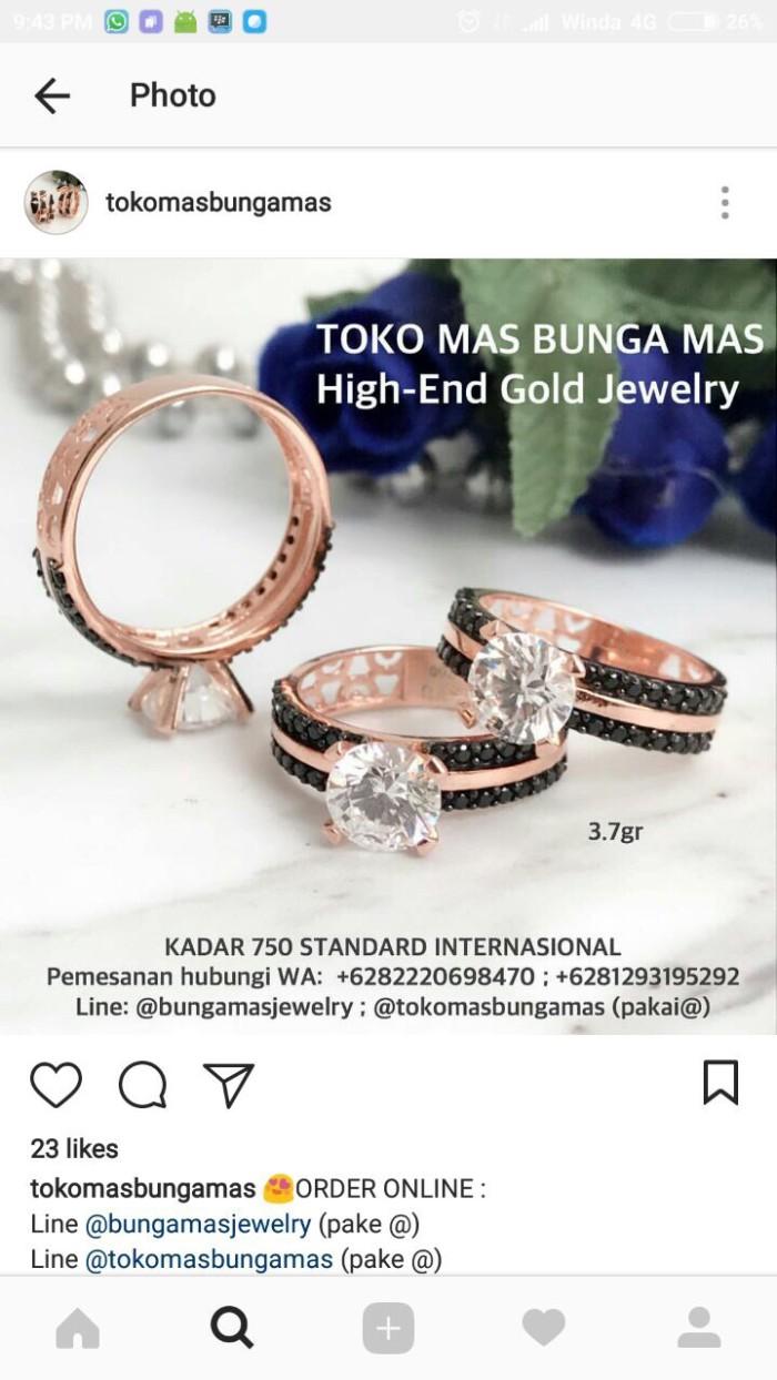 Beli Jam Dan Perhiasan Cincin Di Tokopediacom Melalui Jne Tiaria Dhtxdfj047 Emas Putih Zircon White Gold 9k Winda