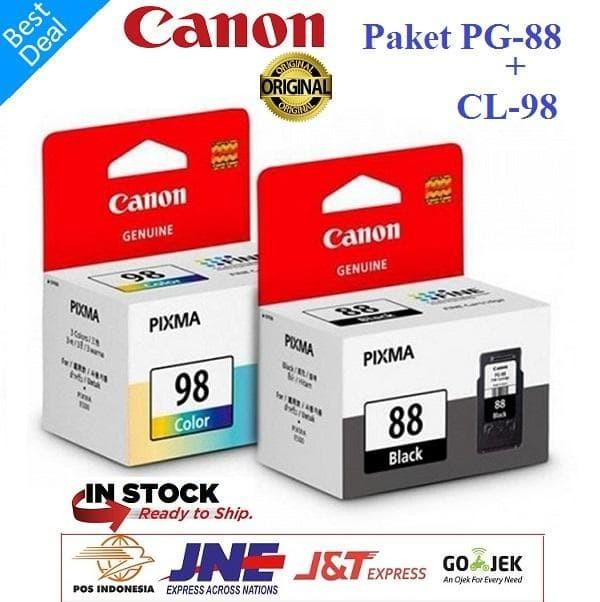 harga Paket tinta canon pg-88 black dan cl-98 color ink cartridge e500 e510 Tokopedia.com