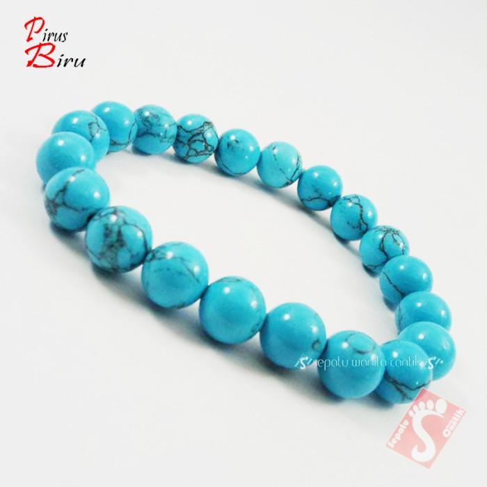harga gelang batu pirus shanghai biru asli murah untu pria wanita diameter Tokopedia.com