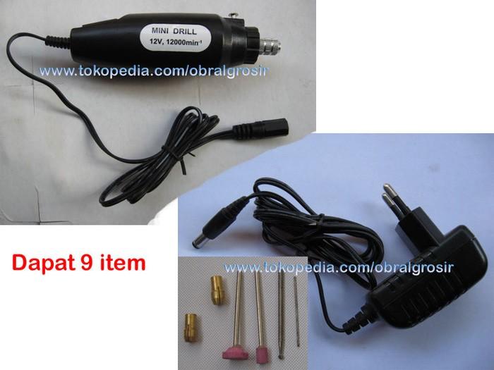 harga Mini drill bor mini bor tangan mesin potong gerinda ukir batu + adaptr Tokopedia.com