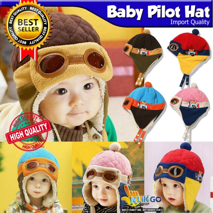 harga Topi pilot bayi / topi pilot anak import / kupluk bayi / beanie hat Tokopedia.com