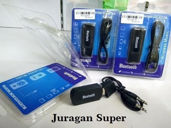 Bluetooth Music Receiver USB Audio Dongle 3.5mm - Original - Putih