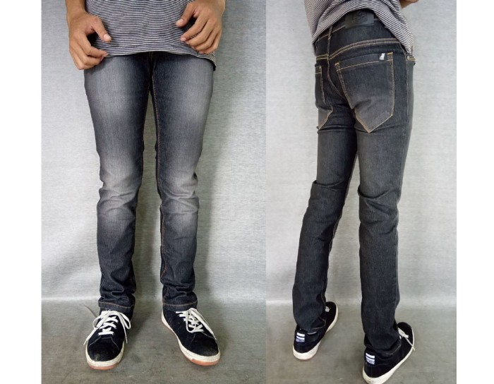 Celana Jeans Slimfit Abu Scrub Premium-Grey Wash Denim-Melar-Allbrand