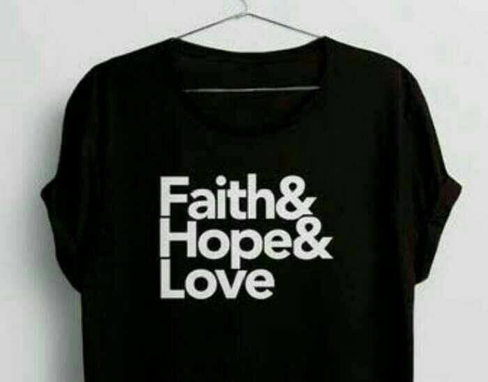 harga Kaos faith hope love/baju rohani kristen katolik Tokopedia.com