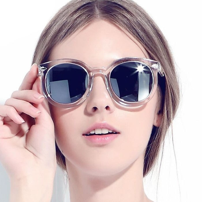 Kacamata wanita. Source · Fashionity Candy Sunglasses MN 5016 Clear Silver - 0665a2d3ff