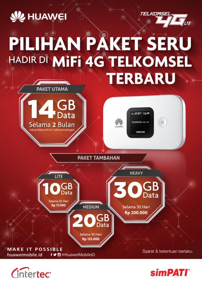 harga Huawei e5577 modem mifi 4g lte free kuota 14gb 2 bulan Tokopedia.com