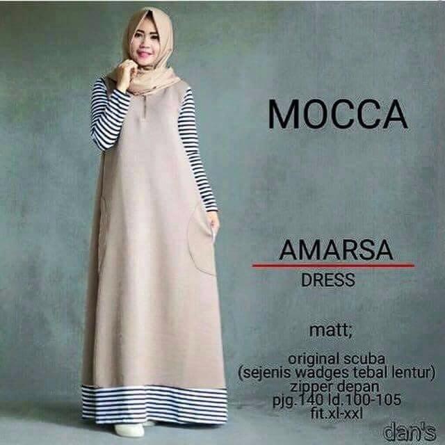 Jual Hot Promo Amarsa Dress Gamis Baju Muslim Hijabers Hijab Model