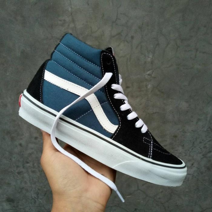... harga Sepatu vans sk8 navy blue premium waffle ifc full tag barcode  china Tokopedia.com dbc0d9a325