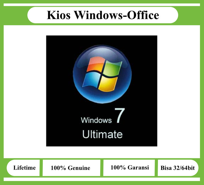 harga Windows 7 ultimate lisensi key retail original Tokopedia.com