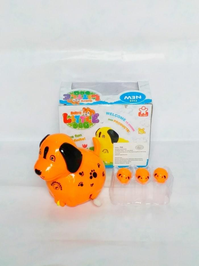 Jual Mainan Binatang Anjing Bertelur Tanpa Batre Suara Lampu Mix