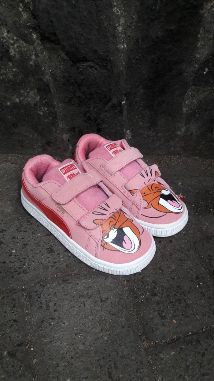 14a5b698692519 Jual sepatu puma suede 2 strap kids tom   jerry sneaker pink - DKI ...