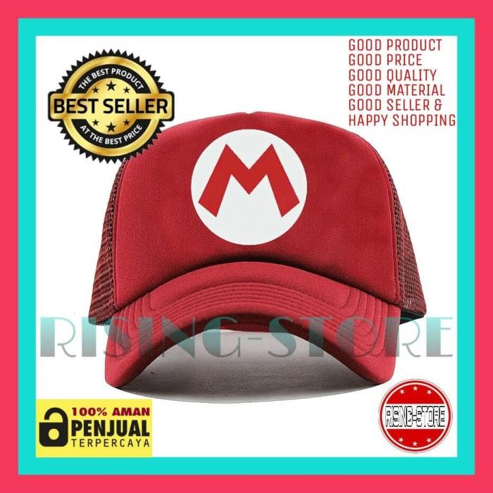 harga Topi pria trucker mario inisial m baseball snapback - dipilihaja-shop Tokopedia.com