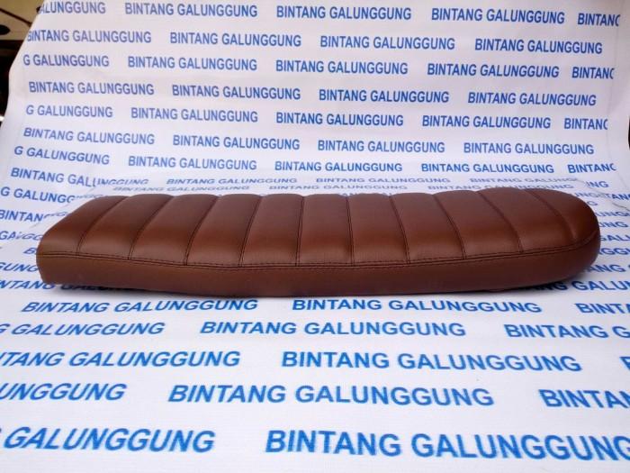harga Jok japstyle dark brown 55cm model jahit samping Tokopedia.com