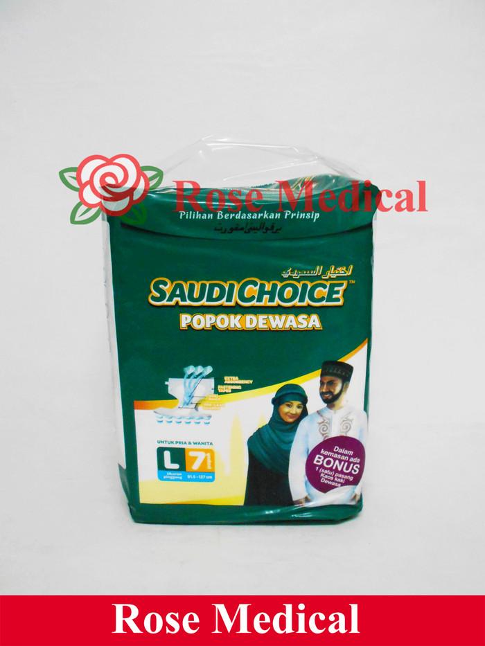 harga Popok dewasa saudi choice - ukuran l Tokopedia.com