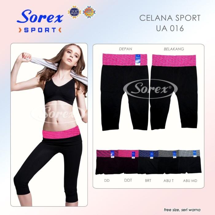 harga Legging Celana Sport Senam Yoga 3/4 Sorex Ua016 Tokopedia.com