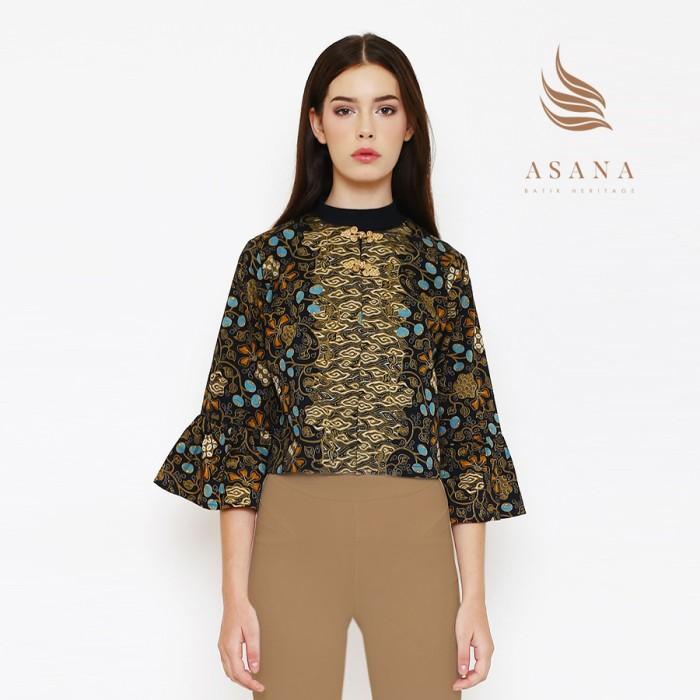 Asana kayura woman jacket batik wanita - black - hitam xl