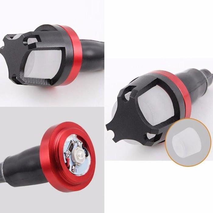 harga Aksesoris motor 2017 jalu stang lampu led 9nine luminos cnc universal Tokopedia.com