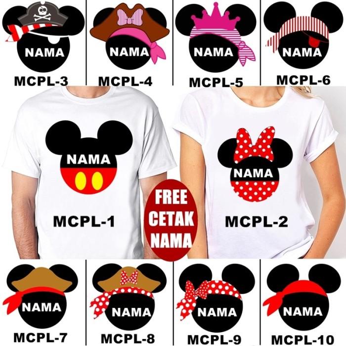 Foto Produk Kaos / Baju MICKEY MINNIE COUPLE DEWASA BANYAK MOTIF (FREE NAMA) dari KaosEry