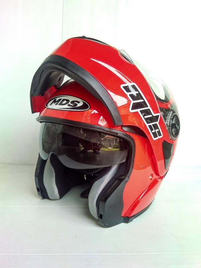 harga Helm mds pro rider flip up solid red Tokopedia.com
