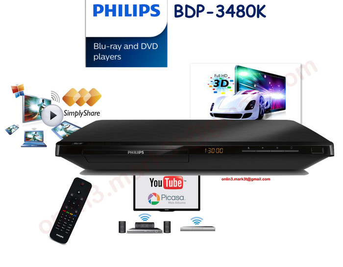 harga Philips bluray dvd player bdp3480k sln pioneer denon marantz sony sams Tokopedia.com