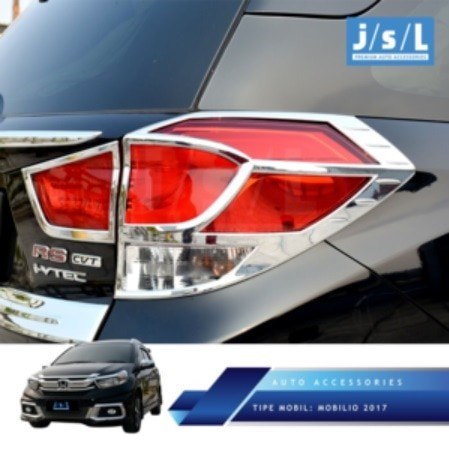 Garnish lampu belakang-taillamp garnish honda mobilio chrome-mbtlgexch