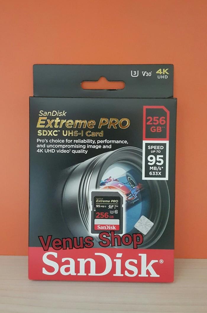 harga Sandisk sdcard extreme pro 256 gb 95 mb/s / extremepro 256gb 95 mbps Tokopedia.com