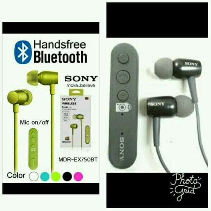 harga Headset bluetooth sony mdr-ex750bt earphone handsfree universal hf blu Tokopedia.com