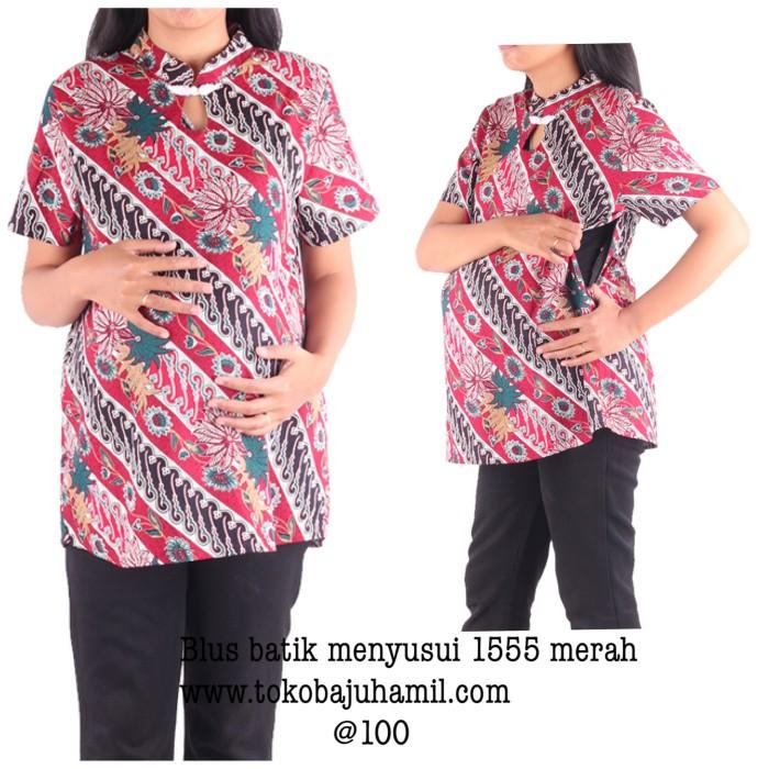 harga Baju hamil batik blus 1555 merah Tokopedia.com