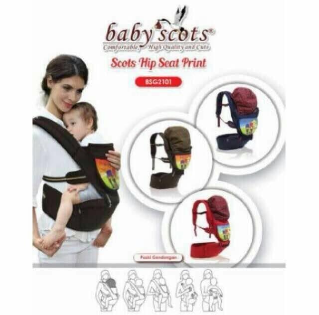 New Gendongan Hipseat baby scots print BSG2101 Best Quality