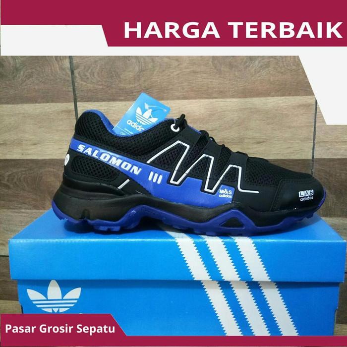 Jual Sepatu Casual Sport Adidas Salomon Man Untuk Pria Cowo Hitam