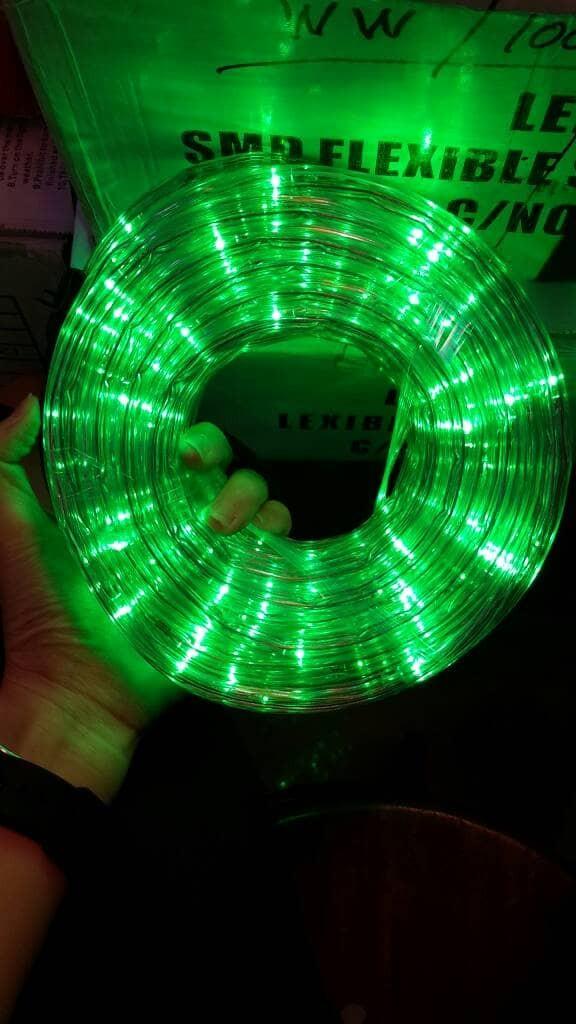 harga Lampu selang bulat led 3 jalur warna hijau 10 meter + flasher 8 way Tokopedia.com