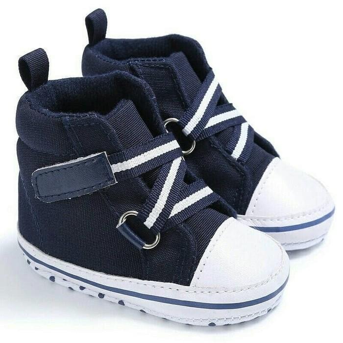 harga Sepatu prewalker bayi import boot boots hitam black strap perekat Tokopedia.com