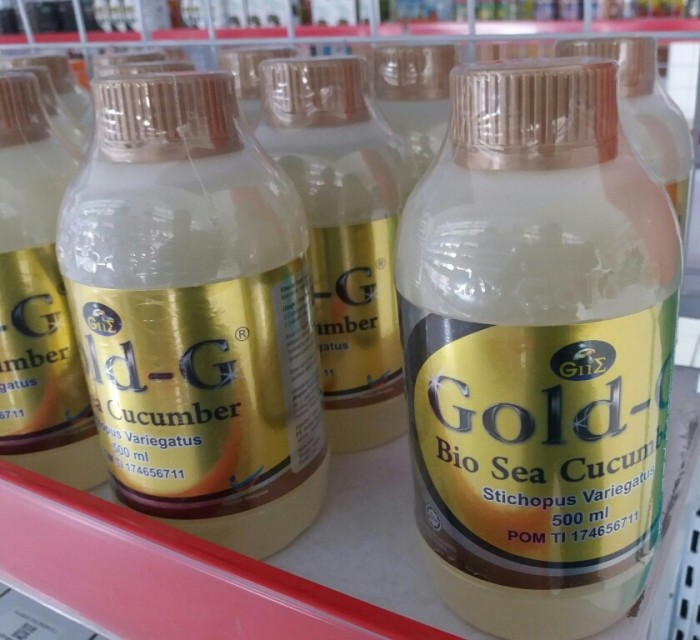 Teripang Cair Jelly Gamat Gold G Gold-G Bio Sea Cucumber 500ml