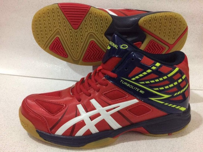 harga Sepatu voli volley professional turbolite md new red navy blue ori  Tokopedia.com 29dc57249e