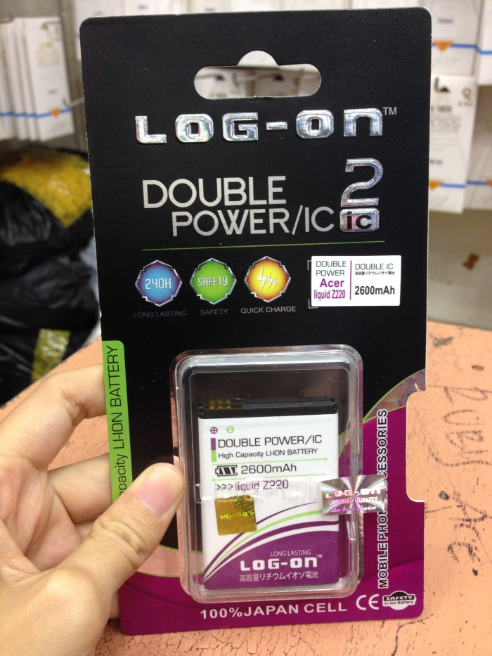 Baterai Acer Liquid Z220 / Z205 / Z200 2600mah Double Power Log On