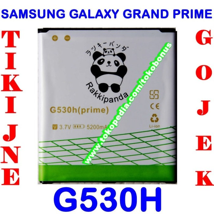 harga Baterai samsung galaxy grand prime g530 double power rakki panda Tokopedia.com