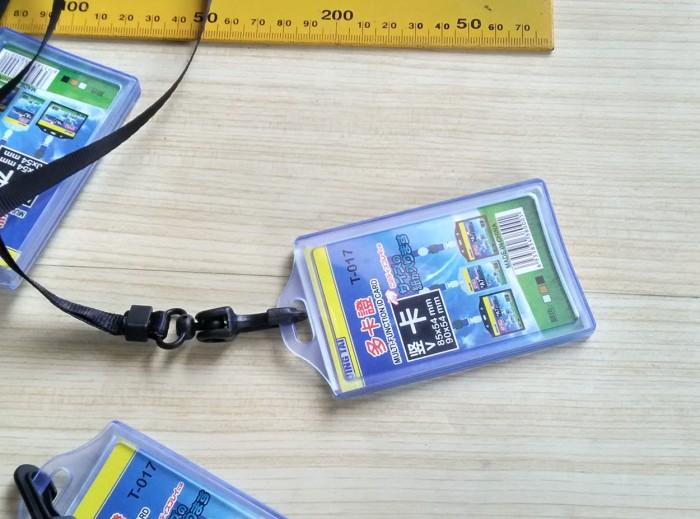 harga Id card holder plastik lentur 2 sisi dan tali 10 mm Tokopedia.com