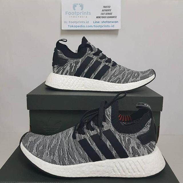 7d40ea58db6b7 Jual Adidas NMD R2 BLACK WHITE RED FUTURE HARVEST 100% Original ...