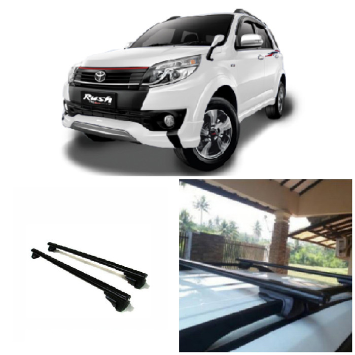 harga Toyota rush 2018 - cross bar model jepit roof rail hitam Tokopedia.com